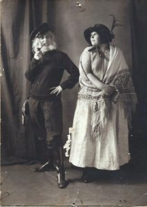 Alice Cross and Mary Collins in costume