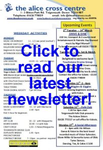 Click to read latest newsletter