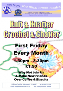 Knit and Knatter, Crochet and Chatter @ Alice Cross Centre | England | United Kingdom
