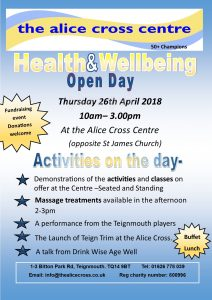 Health and wellbeing open day