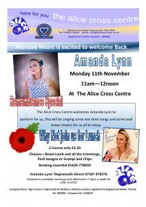 Remembrance Monday Music @ The Alice Cross Community Centre