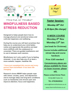 Mindfulness Class @ The Alice Cross Centre