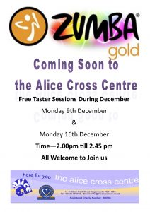 Zumba Gold @ The Alice Cross Centre