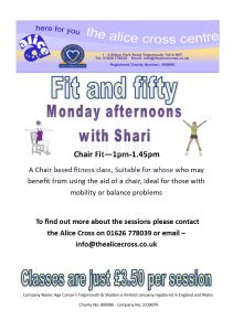 Chair Fit @ The Alice Cross Centre