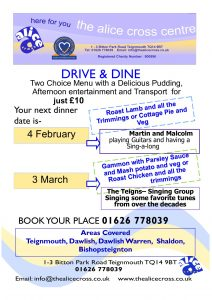 Drive and Dine @ The Alice Cross Social Centre