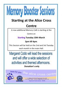 Memory Boosting Sessions @ The Alice Cross Centre