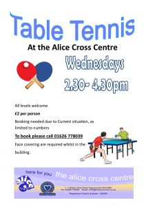 Table Tennis @ The Alice Cross Centre