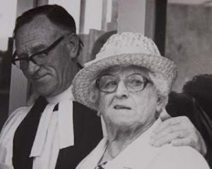 Alice Cross with clergyman