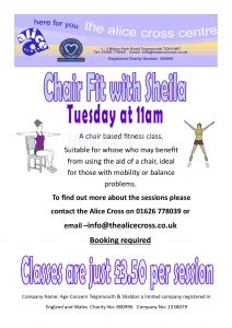 Chair fit with Sheila