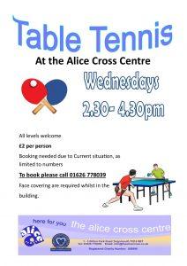 Table Tennis @ The Alice Cross Centre